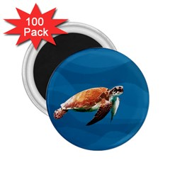 Sea Turtle 2 25  Magnets (100 Pack)  by Valentinaart