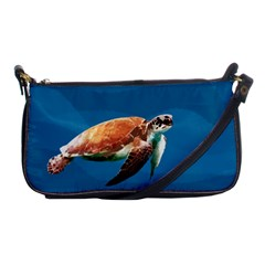 Sea Turtle Shoulder Clutch Bags by Valentinaart
