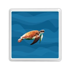 Sea Turtle Memory Card Reader (square)  by Valentinaart