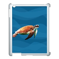 Sea Turtle Apple Ipad 3/4 Case (white) by Valentinaart