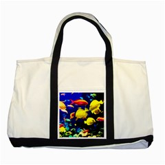 Tropical Fish Two Tone Tote Bag by Valentinaart