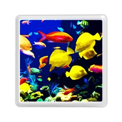Tropical Fish Memory Card Reader (square)  by Valentinaart