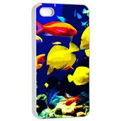 Tropical Fish Apple Iphone 4/4s Seamless Case (white) by Valentinaart