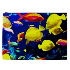 Tropical Fish Cosmetic Bag (xxl)  by Valentinaart