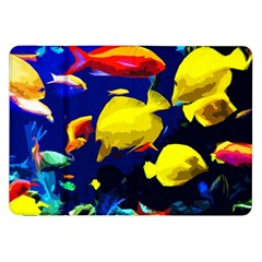 Tropical Fish Samsung Galaxy Tab 8 9  P7300 Flip Case by Valentinaart