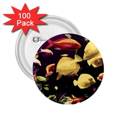 Tropical Fish 2 25  Buttons (100 Pack)  by Valentinaart