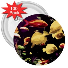 Tropical Fish 3  Buttons (100 Pack)  by Valentinaart