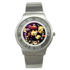 Tropical Fish Stainless Steel Watch by Valentinaart