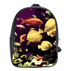 Tropical Fish School Bag (xl) by Valentinaart