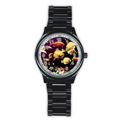 Tropical Fish Stainless Steel Round Watch by Valentinaart