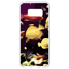 Tropical Fish Samsung Galaxy S8 White Seamless Case by Valentinaart