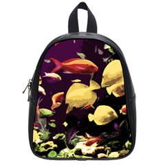 Tropical Fish School Bag (small) by Valentinaart