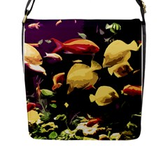 Tropical Fish Flap Messenger Bag (l)  by Valentinaart