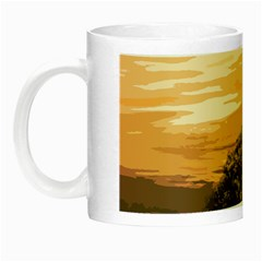 Landscape Night Luminous Mugs by Valentinaart
