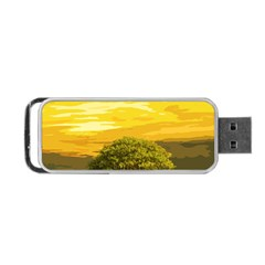 Landscape Portable Usb Flash (one Side) by Valentinaart