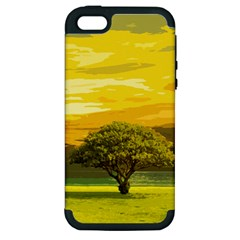 Landscape Apple Iphone 5 Hardshell Case (pc+silicone) by Valentinaart