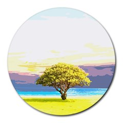 Landscape Round Mousepads by Valentinaart