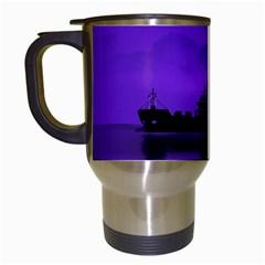 Open Sea Travel Mugs (white) by Valentinaart
