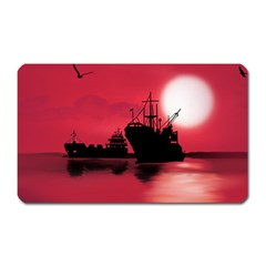 Open Sea Magnet (rectangular) by Valentinaart