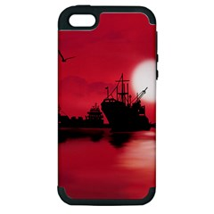 Open Sea Apple Iphone 5 Hardshell Case (pc+silicone) by Valentinaart
