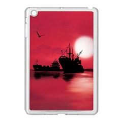 Open Sea Apple Ipad Mini Case (white) by Valentinaart