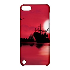 Open Sea Apple Ipod Touch 5 Hardshell Case With Stand by Valentinaart