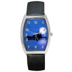 Open Sea Barrel Style Metal Watch by Valentinaart
