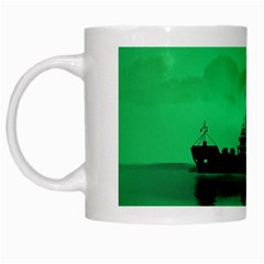 Open Sea White Mugs by Valentinaart