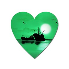 Open Sea Heart Magnet