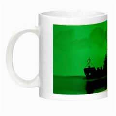 Open Sea Night Luminous Mugs by Valentinaart