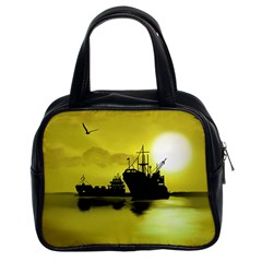 Open Sea Classic Handbags (2 Sides) by Valentinaart