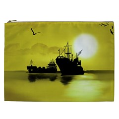 Open Sea Cosmetic Bag (xxl)  by Valentinaart
