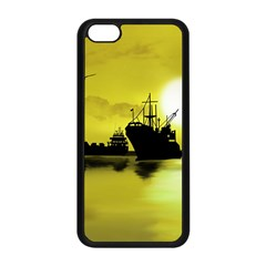 Open Sea Apple Iphone 5c Seamless Case (black) by Valentinaart