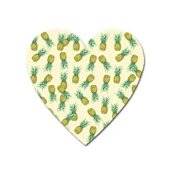 Pineapples Pattern Heart Magnet by Valentinaart