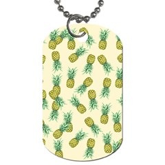 Pineapples Pattern Dog Tag (two Sides) by Valentinaart