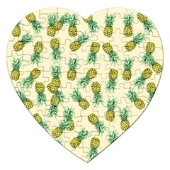 Pineapples Pattern Jigsaw Puzzle (heart) by Valentinaart
