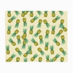 Pineapples Pattern Small Glasses Cloth (2 Side) by Valentinaart