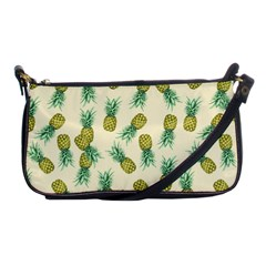 Pineapples Pattern Shoulder Clutch Bags by Valentinaart
