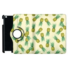 Pineapples Pattern Apple Ipad 3/4 Flip 360 Case by Valentinaart