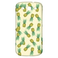 Pineapples Pattern Samsung Galaxy S3 S Iii Classic Hardshell Back Case by Valentinaart
