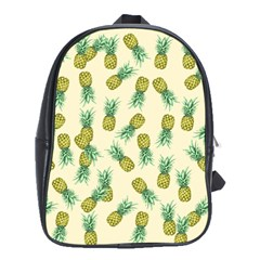 Pineapples Pattern School Bag (xl) by Valentinaart