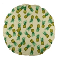 Pineapples Pattern Large 18  Premium Flano Round Cushions by Valentinaart