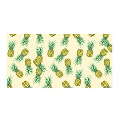 Pineapples Pattern Satin Wrap by Valentinaart