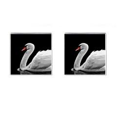 Swan Cufflinks (square) by Valentinaart