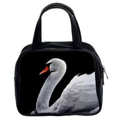 Swan Classic Handbags (2 Sides) by Valentinaart