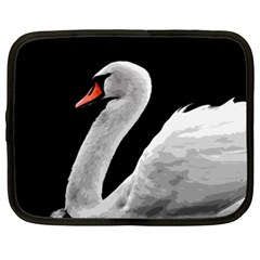 Swan Netbook Case (xxl)  by Valentinaart