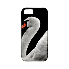 Swan Apple Iphone 5 Classic Hardshell Case (pc+silicone) by Valentinaart