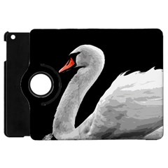 Swan Apple Ipad Mini Flip 360 Case by Valentinaart