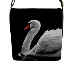 Swan Flap Messenger Bag (l)  by Valentinaart