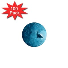 Shark 1  Mini Magnets (100 Pack)  by Valentinaart